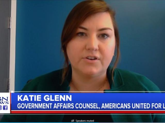 Katie Glenn, government affairs counsel with Americans United for Life. (Image credit: CBN News)