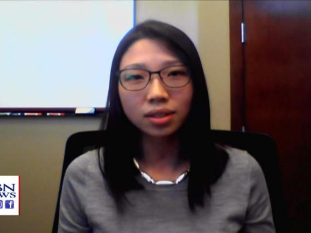 Liz Dong, co-founder of Voices for Christian Dreamers. (Image credit: CBN News)
