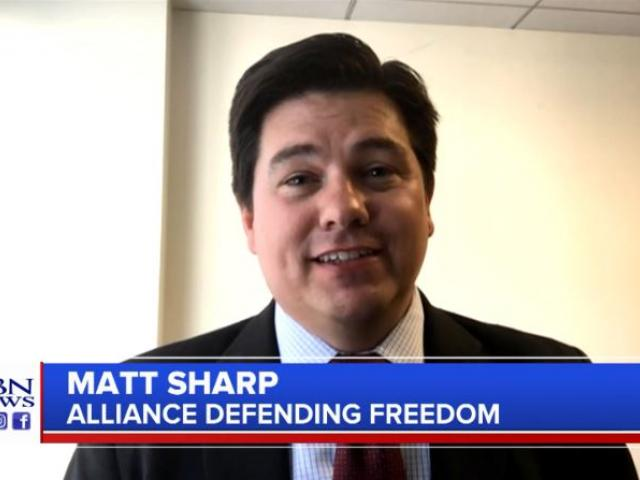 Matt Sharp, senior counsel with the Alliance Defending Freedom. (Image credit: CBN News)