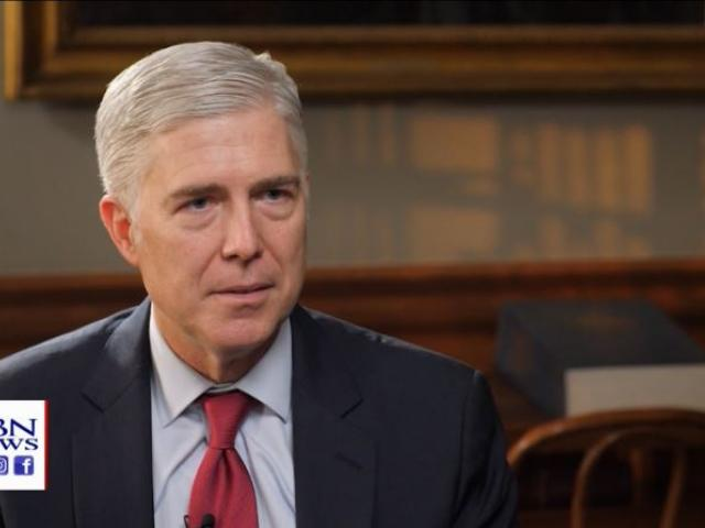 US Supreme Court Justice Neal Gorsuch. (Image credit: CBN News)