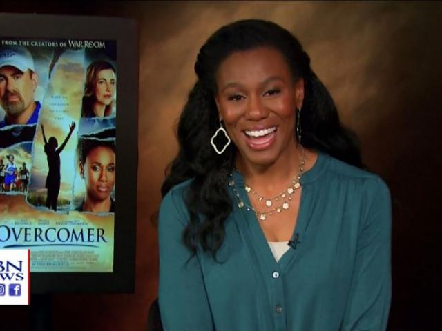 "Priscilla Shirer is one of the stars of the new faith-based movie ""Overcomer,"" which opened in theaters Wednesday. (Image credit: CBN News)"