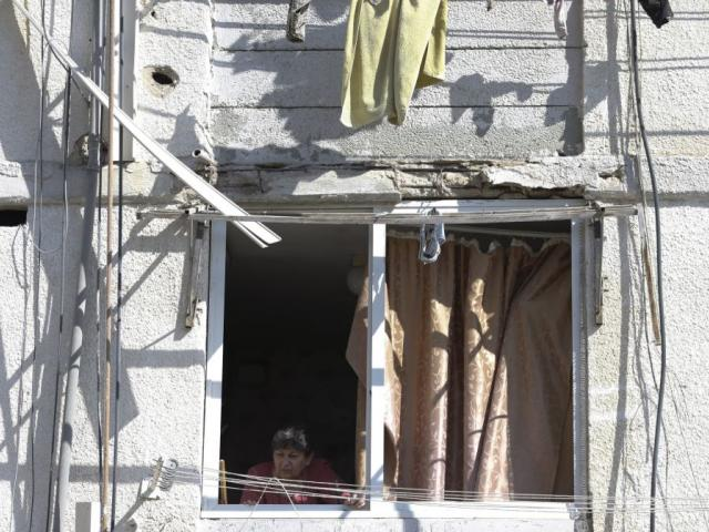 Damage is seen in a residential area after it was hit a by a rocket fired from Gaza in the southern Israeli city of Ashkelon, Israel, Sunday, May 5, 2019. (AP Photo/Ariel Schalit)