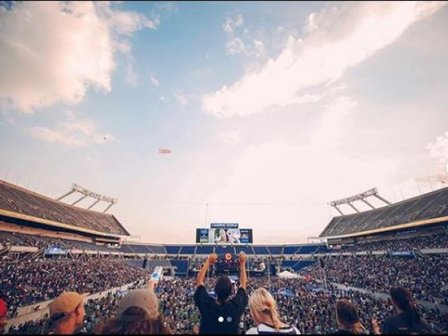 Thousands of Christians attended The Send, an event to usher in a new era of evangelism at Camping World Stadium in Orlando, Fla. on Saturday. Image courtesy: The Send/Instagram
