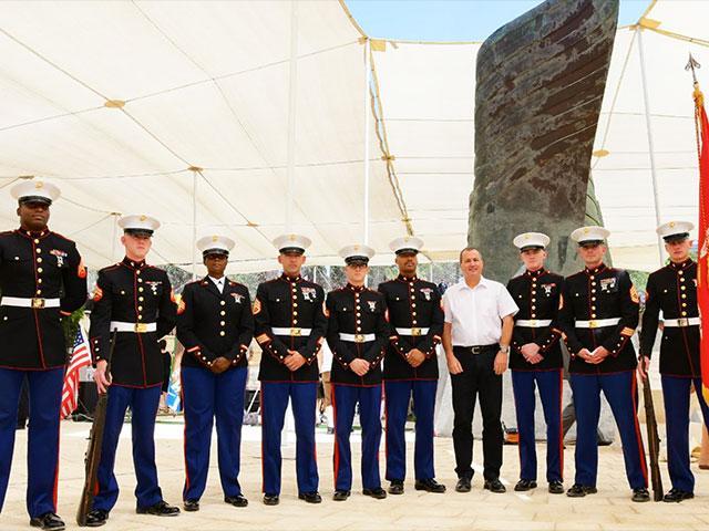 KKL-JNF CEO Amnon Ben-Ami with US Marine Delegation, Photo, Rafi Ben Hakoon