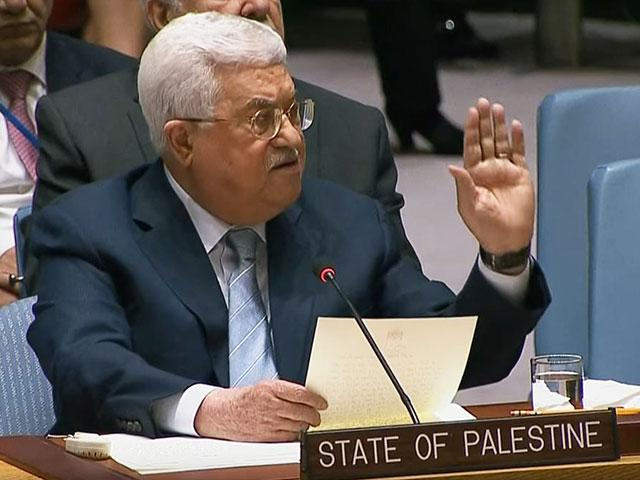 Palestinian President Mahmoud Abbas Addresses the UNSC, Photo, Screen Capture, RT