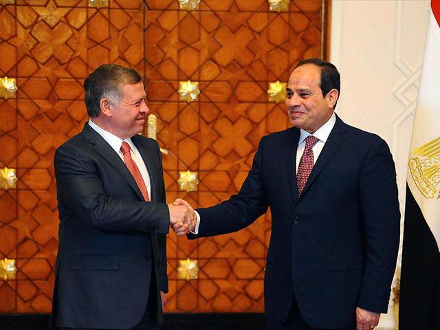 King Abdullah II and President Abdel Fattah el-Sisi in Cairo, Photo, AP