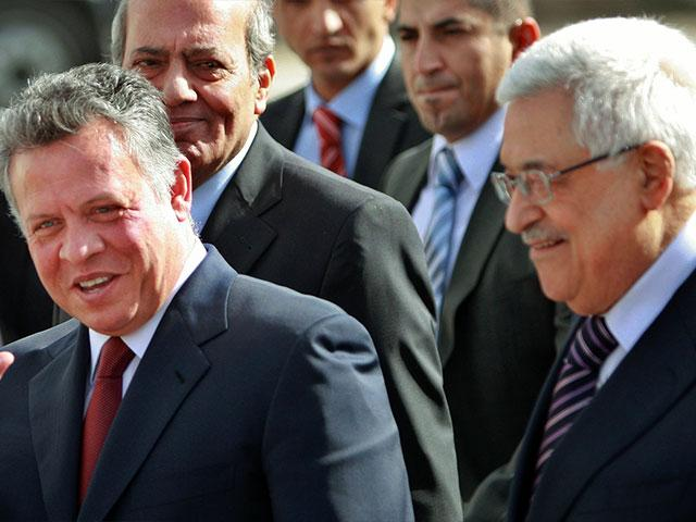 Jordanian King Abdullah II and Palestinian President Mahmoud Abbas, Photo, AP