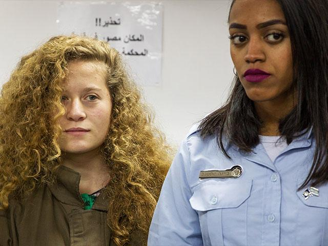 Ahed Tamimi in Court, Photo, TPS, Hillel Maeir