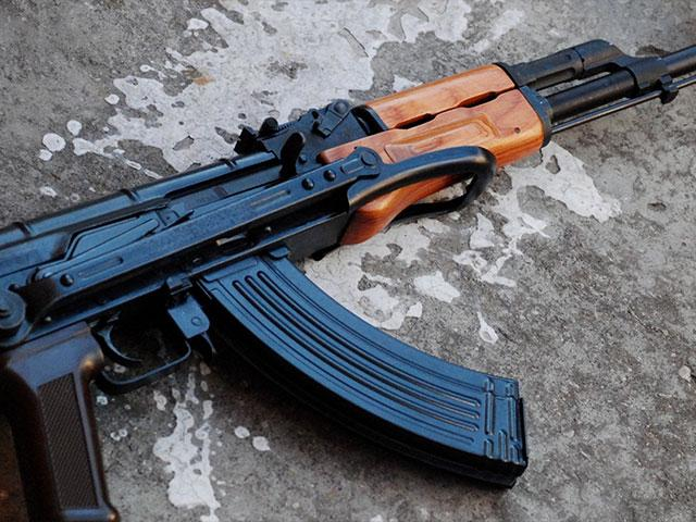 AK47 assault rifle, illustrative