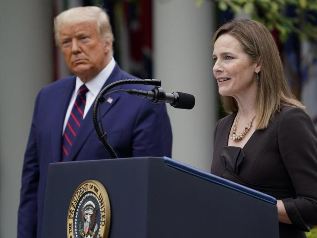 Judge Amy Coney Barrett speaks after President Trump announced her as his nominee to the Supreme Court (AP Photo/Alex Brandon)