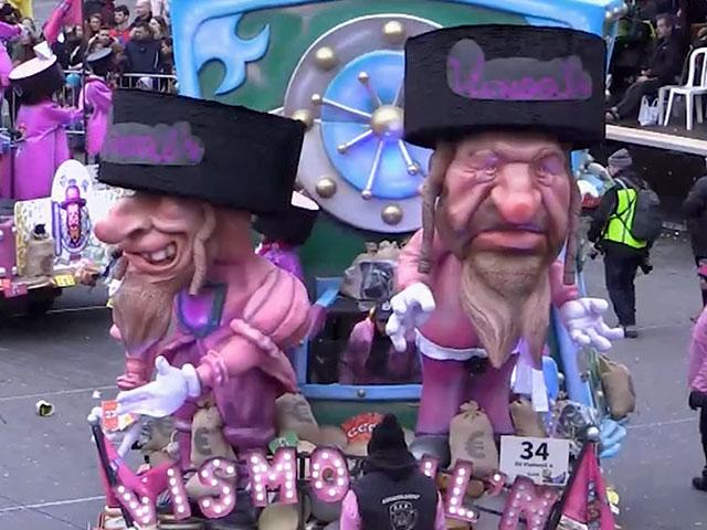 An anti-Semitic float in the Beligian city of Aalst (Photo: CBN News)