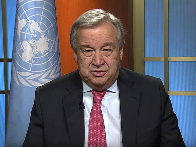 UN Secretary General António Guterres, Screen Capture
