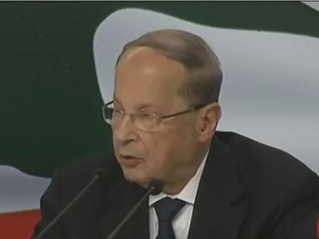 Lebanese President Michel Aoun, screen capture