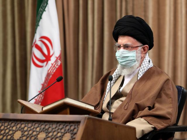 In this picture released by an official website of the office of the Iranian supreme leader, Supreme Leader Ayatollah Ali Khamenei. (Office of the Iranian Supreme Leader via AP)
