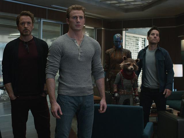Chris Evans and Robert Downey, Jr. in Avengers: Endgame