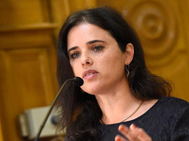 Justice Minister Ayelet Shaked, Associated Press photo