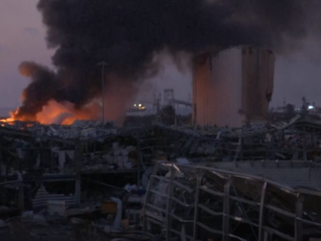 AP Video Screenshot: Aftermath of explosion in Beirut. 4 August 2020