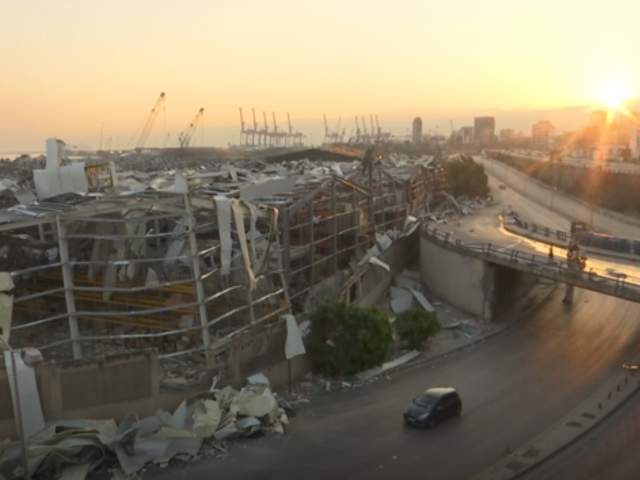AP Video Screenshot: The sun rises in Beirut and rescue operations continue following a devastating explosion