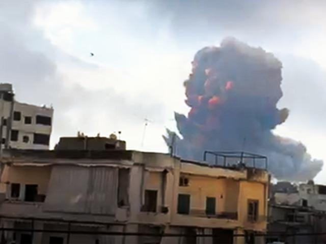 Beirut rocked by an explosion on August 4, 2020 (Image: video screen capture)