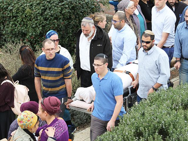 Funeral in Har Bracha for Rabbi Itamar Ben Gal, Photo, TPS, Hillel Maeir