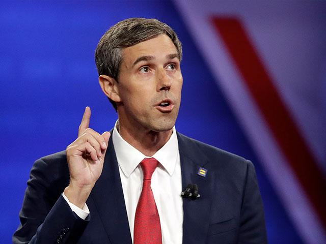 Democratic presidential candidate former Texas Rep. Beto O'Rourke speaks during the Power of our Pride Town Hall Thursday, Oct. 10, 2019, in Los Angeles. (AP Photo/Marcio Jose Sanchez)