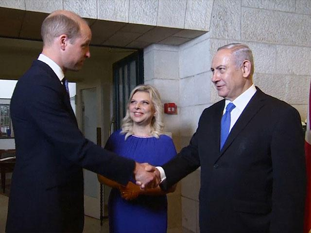 Israeli Prime Minister Benjamin Netanyahu and his Wife, Sara, Welcome Prince William to Israel, Photo, GPO