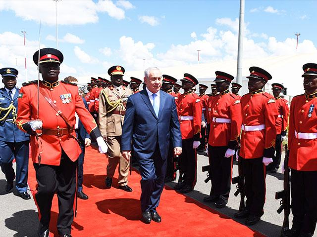 Israeli Prime Minister Benjamin Netanayhu Arrives in Nairobi, Photo, GPO