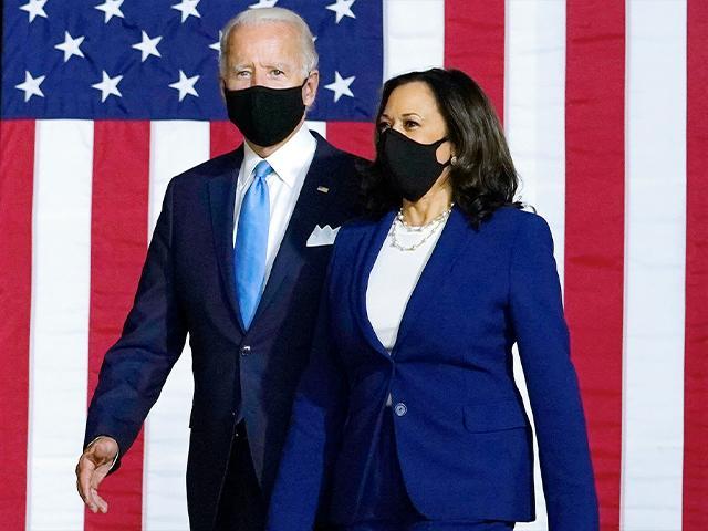 Democratic presidential candidate former Vice President Joe Biden and his running mate Sen. Kamala Harris, D-