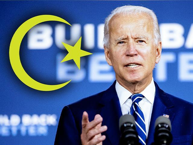 Biden seeks Muslim vote.