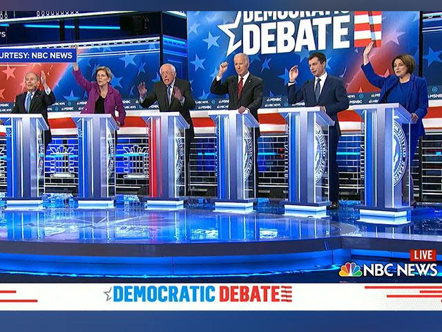 Bloomberg at Democratic debate in Nevada