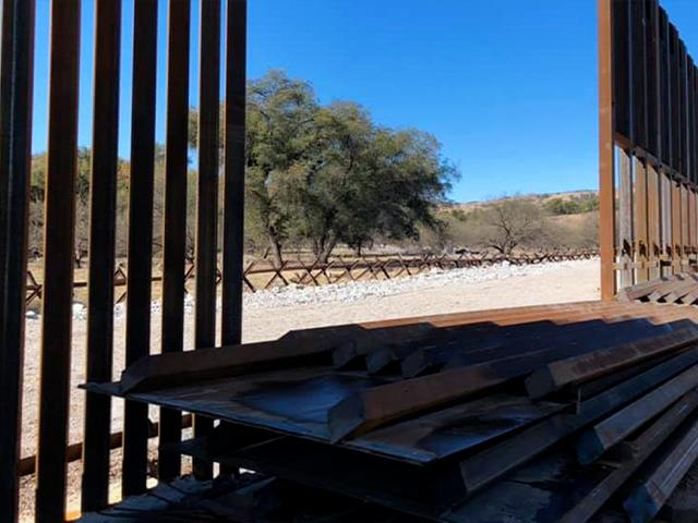 Biden halted border wall construction, leaving gaps in the fence. (Photo courtesy: Sen. James Lankford via Facebook)