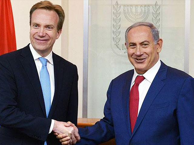 Norwegian Foreign Minister Borge Brende and Prime Minister Benjamin Netanyahu, Photo, Facebook