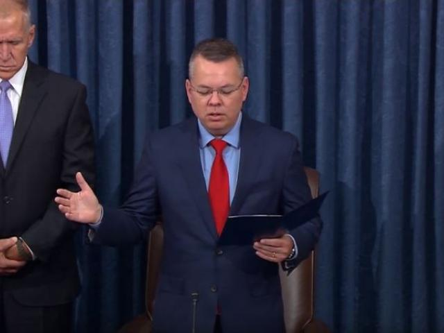Pastor Andrew Brunson delivers the opening prayer in the chambers of the United States Senate on Oct. 15, 2019. (Screenshot credit: Sen. Tom Tillis (R-NC)/Youtube)