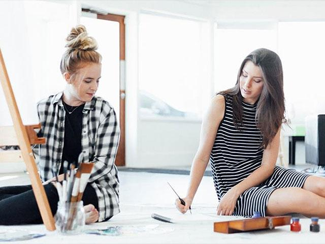 Joanna Duka and Breanna Koski, owners of Brush & Nib Studio