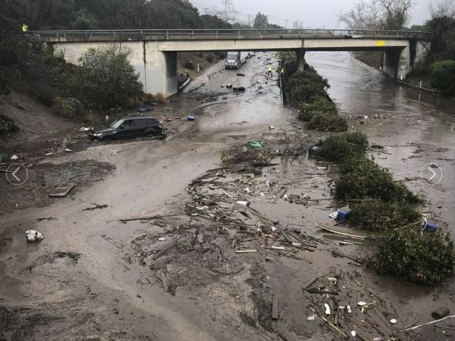 Trains disrupted as mud, water cover California tracks