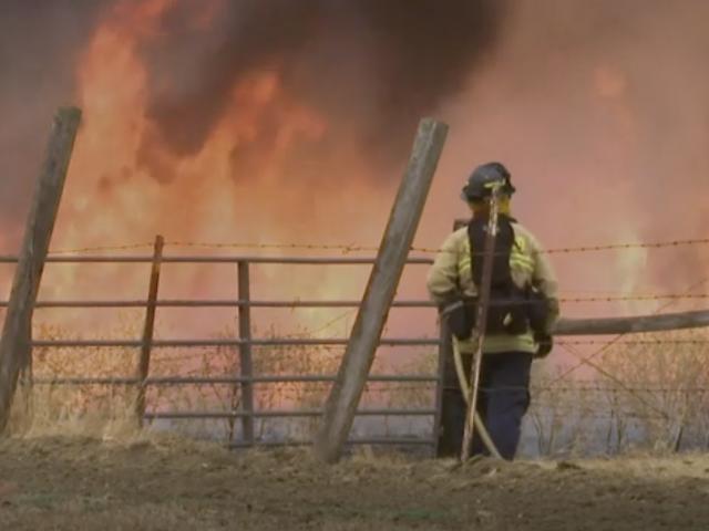 AP Video Still: Fires rage in Vacaville, California