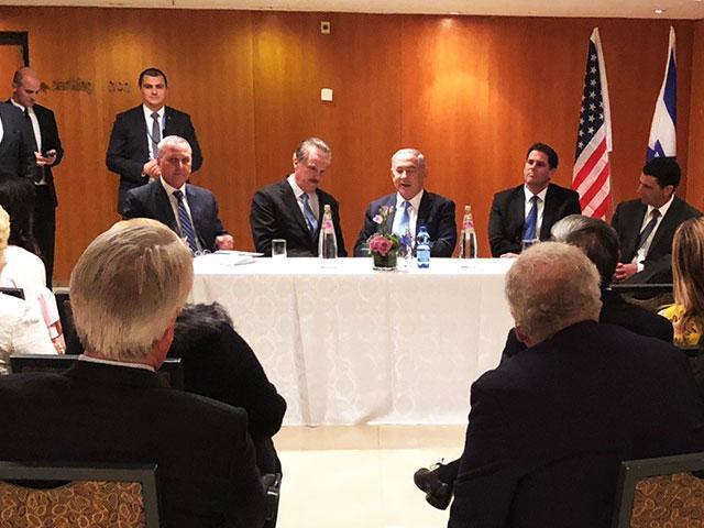 Israeli Prime Minister Benjamin Netanyahu Meets with American Christian Leaders, Photo, CBN News, Jonathan Goff