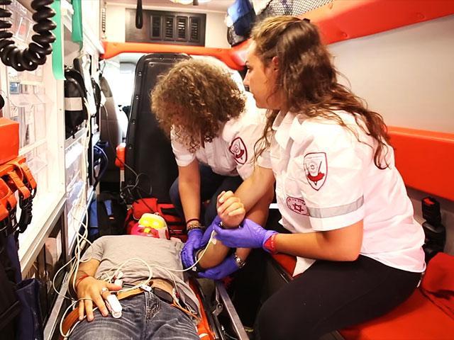 Magen David Adom paramedics, Courtesy MDA