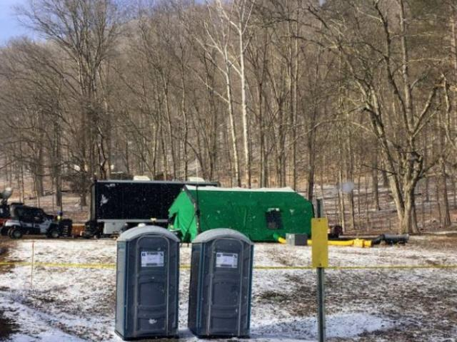 Finders Keepers, a treasure hunting group, have set up their camp near the site where the Civil War gold is reportedly buried.
