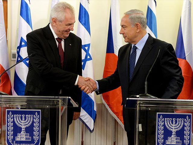Prime Minister Benjamin Netanyahu with Czech President Milos Zeman, Photo, GPO, Kobi Gideon