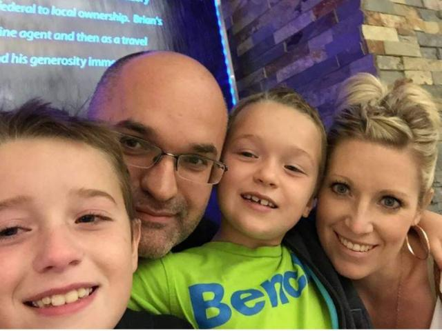 Darcy Haugan with his wife Christina and sons , Carson and Jackson. Photo courtesy: Jason Schroeder/GoFundMe