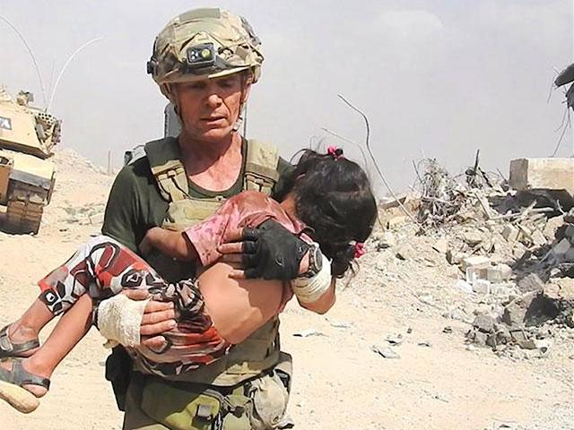 Dave Eubank with Free Burma Rangers Saves Iraqi Girl, Screen Capture