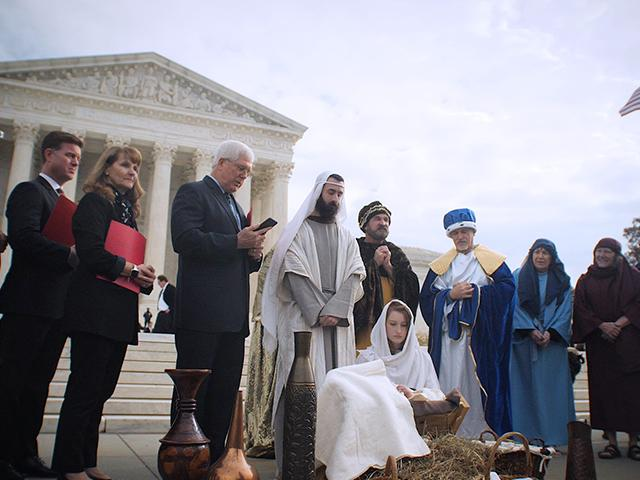 Live nativity near the Supreme Court and Capitol Hill (Photo: Mark Bautista/CBN News)