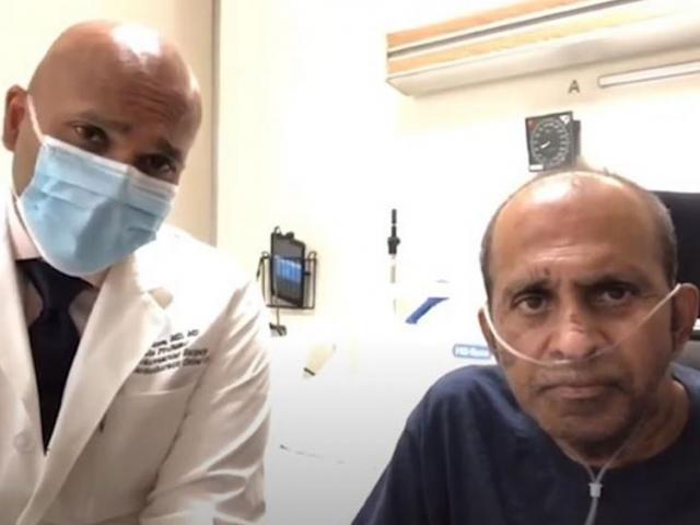 Dr. Robin Varghese y Pastor Benjamin Thomas. (Crédito de la captura de pantalla: Hospital Mount Sinai)