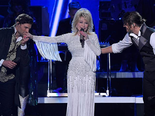 Dolly Parton and For King & Country perform at the CMA Awards.