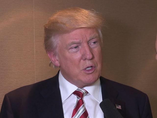 Donald Trump talks with CBN's David Brody