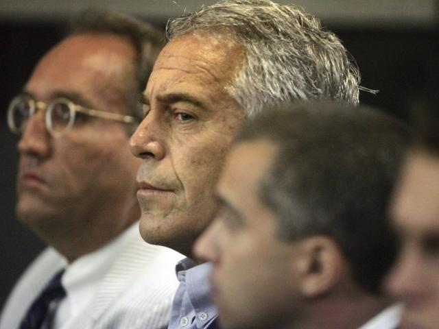 Jeffrey Epstein appears in court on July 30, 2008 in West Palm Beach, Fla. (AP Photo/Palm Beach Post, Uma Sanghvi, File)