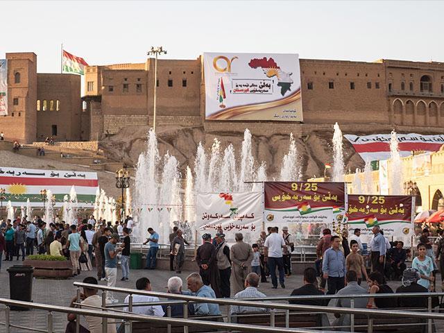 Erbil, Kurdistan, Readies for Referendum, Photo, CBN News, Jonathan Goff