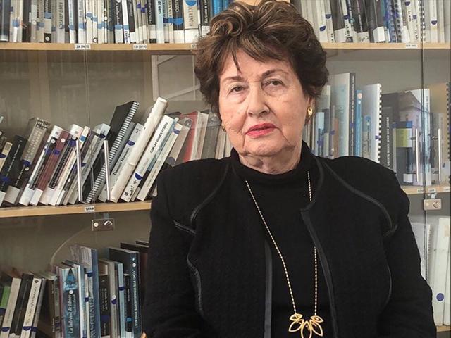 Eva Lavi in Yad Vashem. Jan. 23, 2020.