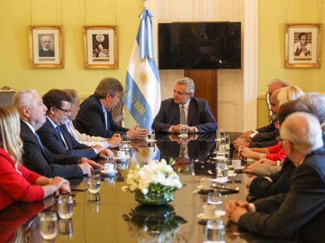 Presidente Alberto Fernández recibe a miembros de ACIERA. Cortesía ACIERA